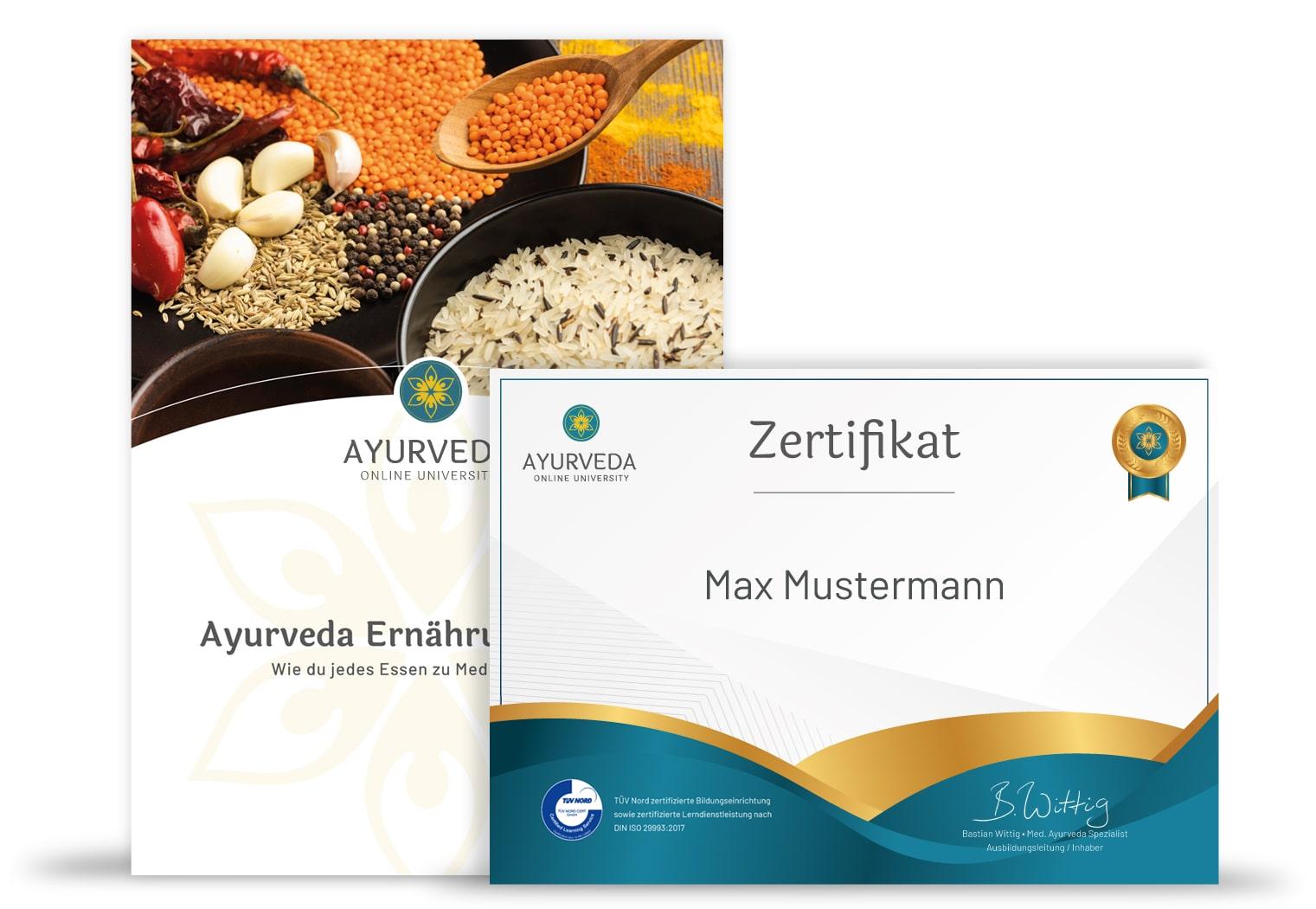 Ayurveda Ernährungscoach Unterlagen & Zertifikat