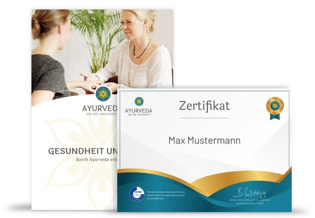 Ayurveda Essentials Unterlagen & Zertifikat